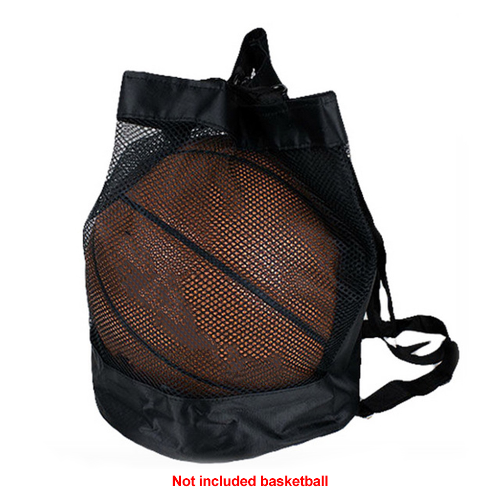 Net Pouch Outdoor Basketball Mesh Bag Crossbody Football Storage Organizer Portable Oxford Cloth Durable Multipurpose Carry