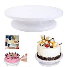 28cm Plastic CakeTurntable 360 Rotating Cake Decorating Anti-Slip Round Pans Rotary Table Baking Supplies
