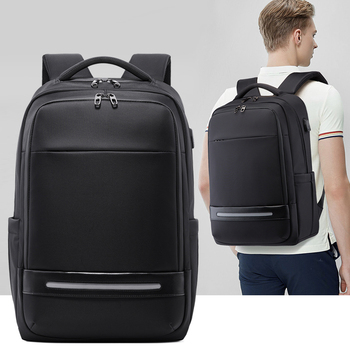 Anti Theft Nylon Men 15.6 Inch Laptop Backpacks School Fashion Travel Backpacking USB Charging Backpack Male Backpack For Laptop fenruien brand 17 inch laptop backpack men usb charging travel backpacking school bag nylon waterproof anti theft backpacks