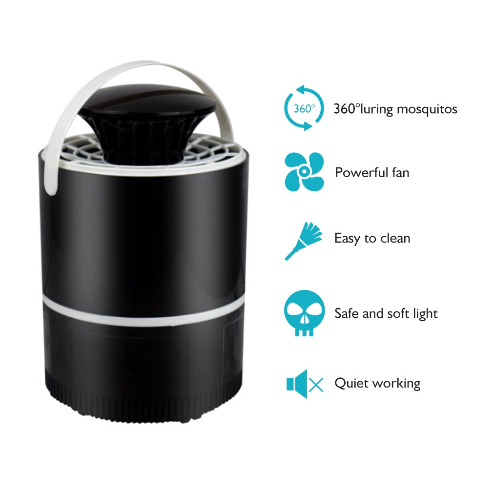 Electronics Nano Mosquito Killer Trap Moth Fly Wasp LED Night Light Lamp Bug Insect Lights Killing Pest Zapper Repeller