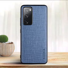For Samsung galaxy S21 S20 Plus Ultra S20FE S10 lite 5G Note 10 20 Fabric Textile Cloth pattern Simplicity Mobile phone case