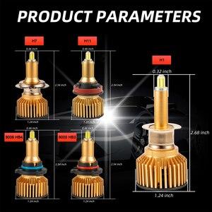 Image 5 - Süper parlak H7 Led 6 yan araba far ampulü 360 ° CSP 12000LM H1 H11 H8 H9 9005 HB3 9006 HB4 6000K yüksek güçlü araba lambaları