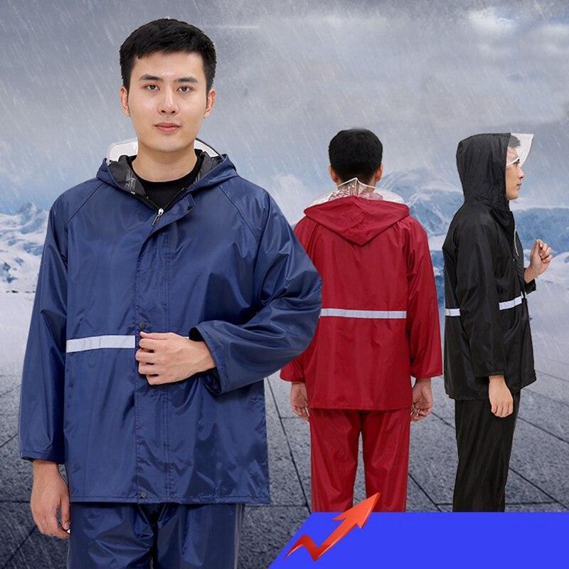 Непромокаемый дождевик для женщин и мужчин с капюшоном, пончо для мотоцикла, дождевик для L-4XL, походов, рыбалки, дождевика