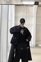 S 6XL!!Coat male long paragraph windbreaker is loose and recreational joker restores ancient ways euramerican vogue trench.