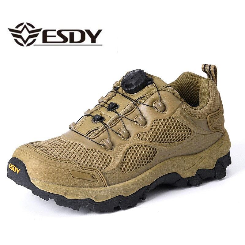 2019 männer Casual Stiefel Automatische Reaktion Schnalle Armee Schuhe Herren Taktische Militär Kampf Stiefel-in Basic Stiefel aus Schuhe bei  Gruppe 1