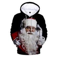 New Christmas Hoodies Men Santa Claus And Snowman Trees 3D Print Mens Hoodie Hip Hop Pullover Sweatshirt Homme Sudadera Hombre 65 gram 126 cm carbon fiber ultralight pyramid tent double a tent straight tent pole