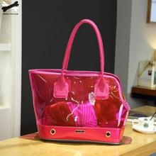 Pet Out Carrying Bag Thick Shoulder Pvc Waterproof Cat Dog Portable Cage Transparent Breathable