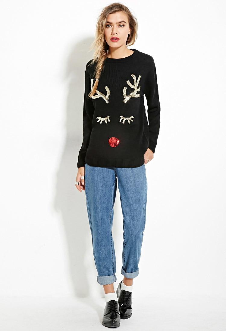 Рождественский свитер в европейском и американском стиле праздничный