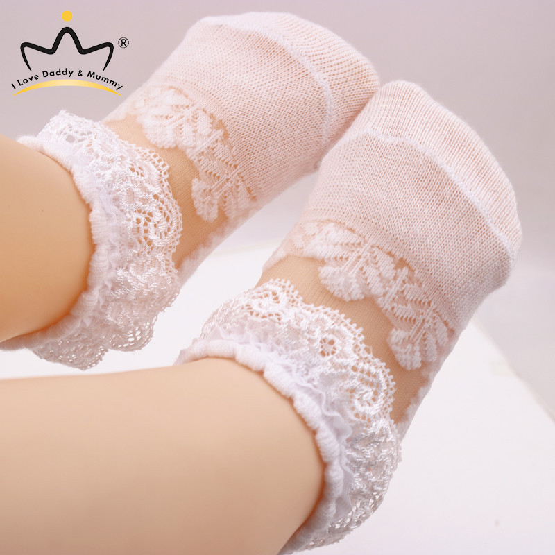 Summer New Baby Socks Cute Lace Flower Floral Newborn Toddler Baby Girl Shoes Princess Girls First Walkers Prewalker