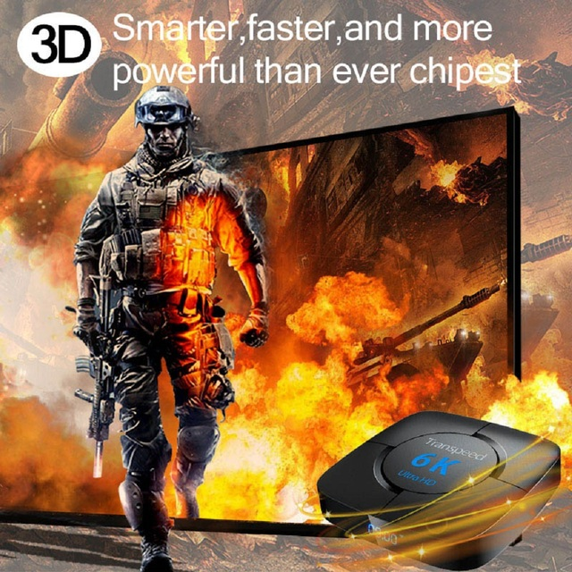 Android 10.0 Bluetooth TV Box Google Voice Assistant  6K 3D Wifi 2.4G&5.8G 4GB RAM 64G Play Store Very Fast BoxTop Box 3