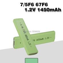 Аккумуляторная батарея 7/5f6, 1,2 В, Ni-MH, 67F6, 1450 мАч, 7/5, F6, жвачка для Walkman, MD, CD, Кассетный плеер