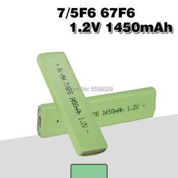 1.2V Ni-Mh rechargeable 7/5F6 battery 67F6 1450mAh 7/5 F6 Chewing Gum cell for Walkman MD CD cassette player image
