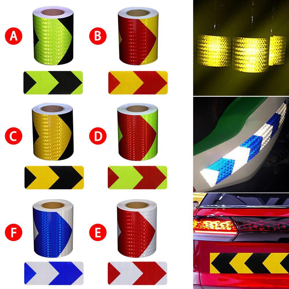 5cm*300cm Car Arrow Reflective Tape Decoration Stickers Car Warning Safety Reflection Tape Film Auto Reflector Sticker