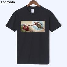 Deadpool Michelangelo 2019 New Design Men's T-shirt Loose casual cotton man t shirt streetwear funny tee shirt print clothing майка print bar michelangelo