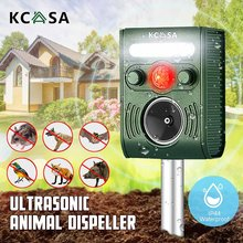 Outdoor Solar Ultrasonic Pest Repeller Animal Pest Mouse Repeller PIR Sensor Garden Bird Cat Dog Bat Repellent Keep Animals Away(China)