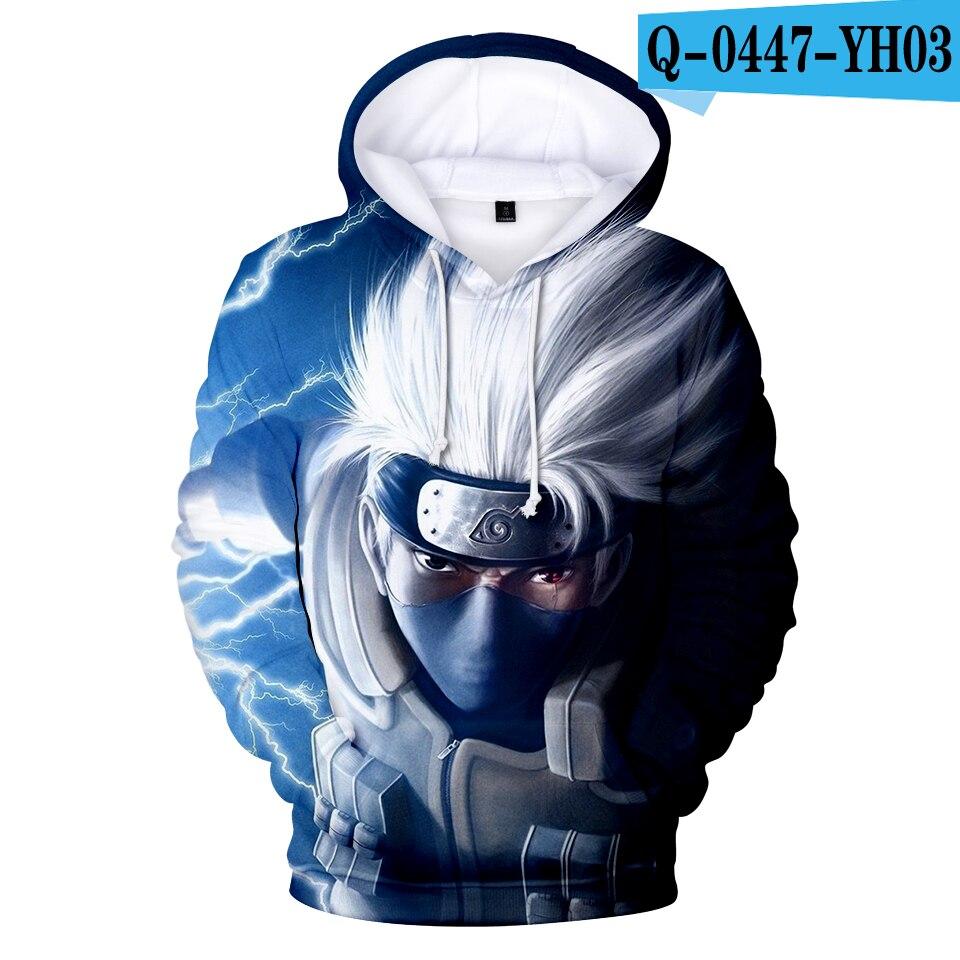Aikooki NARUTO 3D Hoodies Boys girls Hoodies With Cap Sweatshirt Spring Autumn Pop 3D Print NARUTO