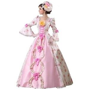 Королевский костюм 18-го века, платье Марии-Антуанетты, вечерние ное вечернее платье