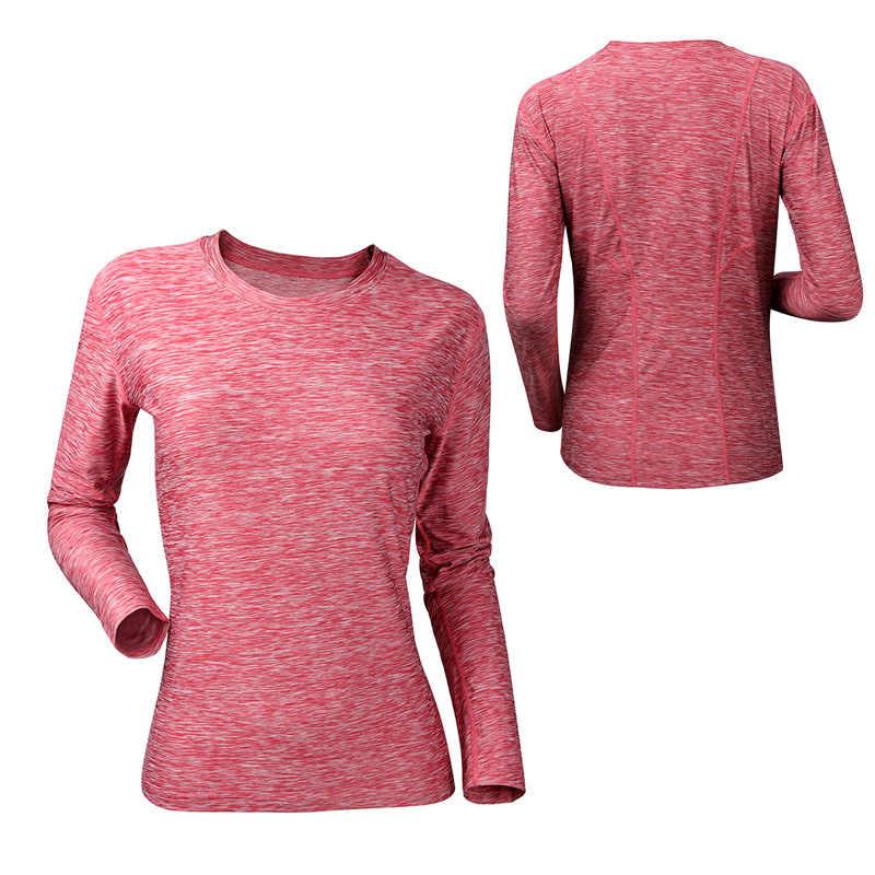 VEQKING المرأة طويلة الأكمام قميص يوجا ، قطعة الصباغة سريعة الجافة تجريب قميص رياضي ، ضغط تشغيل الصالة الرياضية تي شيرت اللياقة البدنية