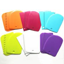Suit Cake-Pasty Tooth-Shape Kitchen Scraper-Tools Bread-Cutter Plastic Home DIY Straight