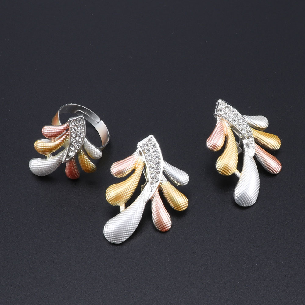 Image 4 - Woman Accessories Jewelry Set Bridal Gift Fashion African Beads Jewelry Set Wholesale Dubai Gold Jewelry Set Wedding DesignBridal Jewelry Sets   -