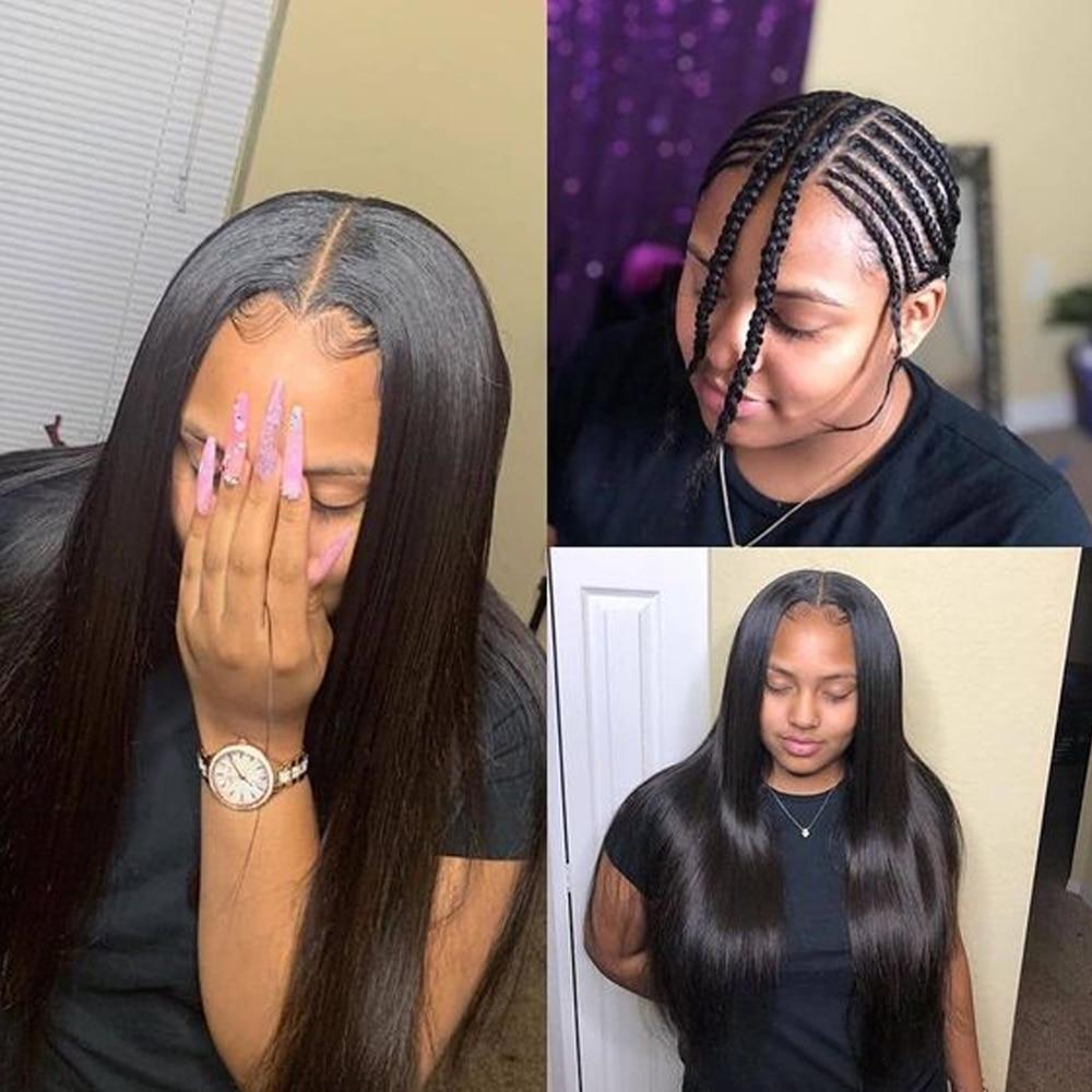 H461cf9da61004df3bfe066db5a64e16bn Sapphire Straight Hair Brazilian Lace Wig 4*4 Lace Closure Wig Human Hair Wigs Straight Preplucked Brazilian Human Hair Wigs