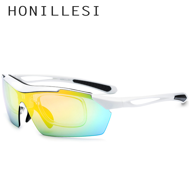 HONILLESI TR90 Polarized Sunglasses Men Sports Sun Glasses Women Outdoor Fishing Driving Protection Goggles 5 Lens 8005