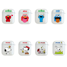Cartoon Sesame Street Dog Wireless Bluetooth Earphone Cute Case For Apple AirPods 2&1 Silicone Charging
