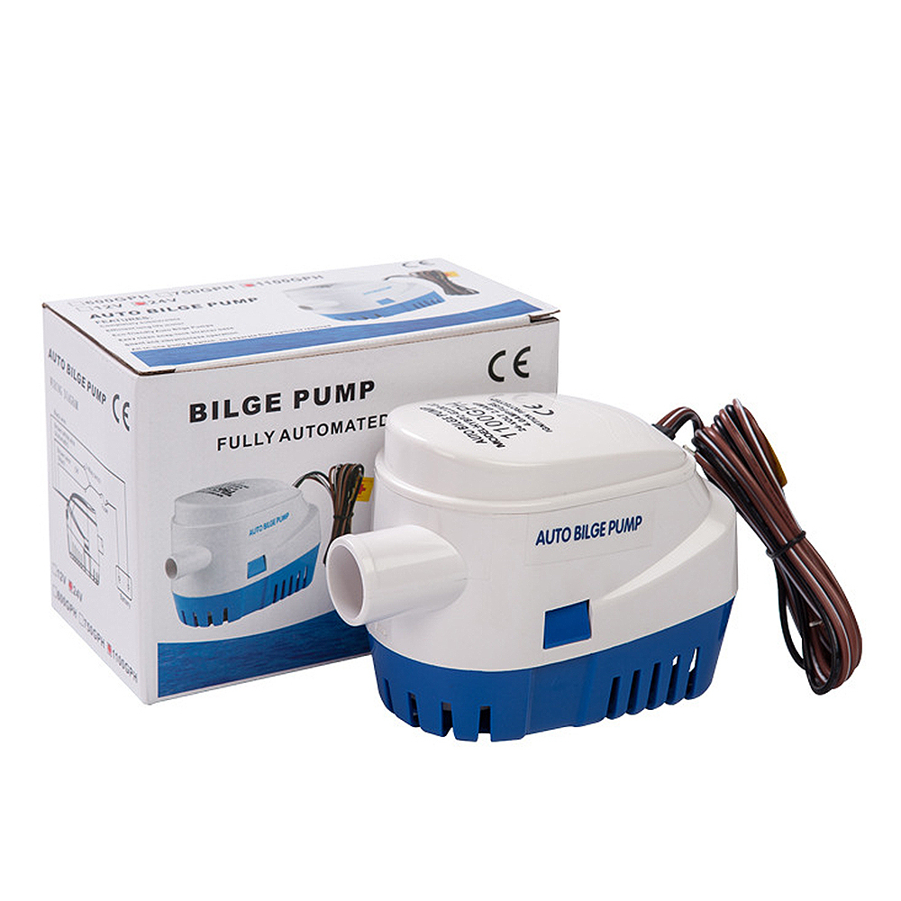 Automatic Bilge Water Pump 12V/24V 1100GPH For Submersible Auto Pump With Float Switch Sea Boat Marine Bait Tank Fish