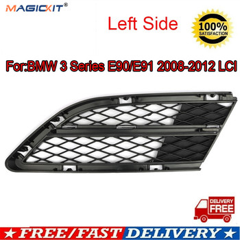 MagicKit Bumper Lower Grille Grill Trim Insert Front Left For BMW E90 E91 2009-2011 LCI image