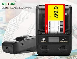 Image 1 - NETUM Bluetooth Thermal Label Printer Mini Portable 58mm Receipt Printer Small for Mobile Phone Ipad Android / iOS NT G5