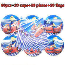 Disney Cars Theme Party Cartoon Disposable paper plate cup flag Kids favors Birthday Party Decoration Baby Shower Party Supplies 90pcs lot princess theme party decoration package for kids birthday party disposable supplies cup plate straw napkin flag