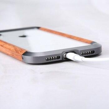 Custodia In Legno Per Iphone | Per Il Iphone Custodie Retro Di Stile Di Affari Del Respingente Di Legno Top E Fondo Di Metallo Copertura Di Caso Di Disegno Per Il Iphone X XS Max Borsette Accessori