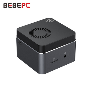 BEBEPC Portable Mini PC Intel Celeron N4100 Quad Cores 8GB LPDDR4 Windows 10 2.4G/5G Dual Band Wifi Bluetooth 4.2 HDMI 2.0 2*USB