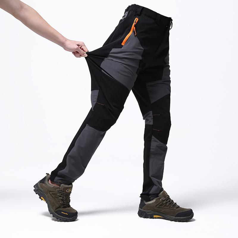 TWTOPSE Men Elastic Water Resistant Running Pants Breathable Durable Sports Hiking Camping Cycling Bike Bicycle Pant Trousers