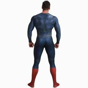 Image 4 - Deluxe סופרמן Aquaman קוספליי תלבושות למבוגרים גברים ליגת צדק Superhero סרבל ליל כל הקדושים תלבושות גברים מבוגרים