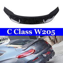 Auto Car Rear Trunk R Style Forged Carbon Spoiler Wing for Mercedes W205 Coupe 2-door Sedan 4-doorC180 C200 C250 C300 C400 2015+