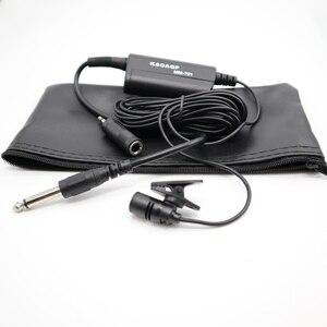 Image 1 - Instrumento Musical condensador Lavalier micrófono Lazo de la solapa Clip Mic para guitarra amplificador de voz altavoz Mezclador Audio