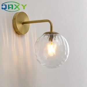 Image 3 - В комплект входит светодиодный ная лампа 12 Вт, золотые Настенные светильники с молочным/прозрачным специальным стеклянным круглым шариком, прикроватные Настенные светильники в спальне [DT4150]