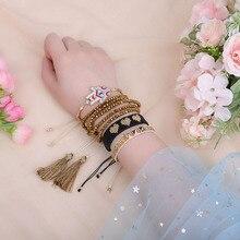 ZHONGVI Miyuki Charm Multi Layered Bracelets For Women Boho Crystal Seed Beads Bracelets Jewelry Party Gift цена 2017