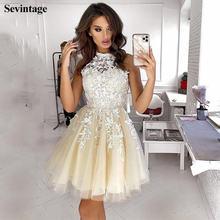 Платье женское кружевное с высокой горловиной без рукавов