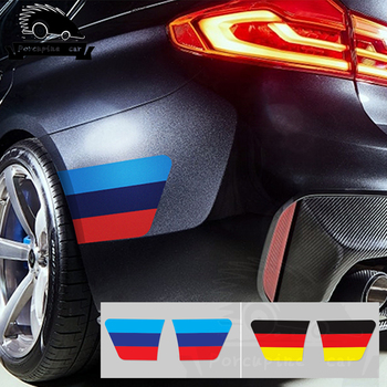 2pcs Sport Car Styling Eyebrow Wheel Tire Fender Sticker For BMW 1 2 3 4 5 7 All Models F10 F20 F30 E36 E90 E46 X1 X3 X5 X6 G30 image