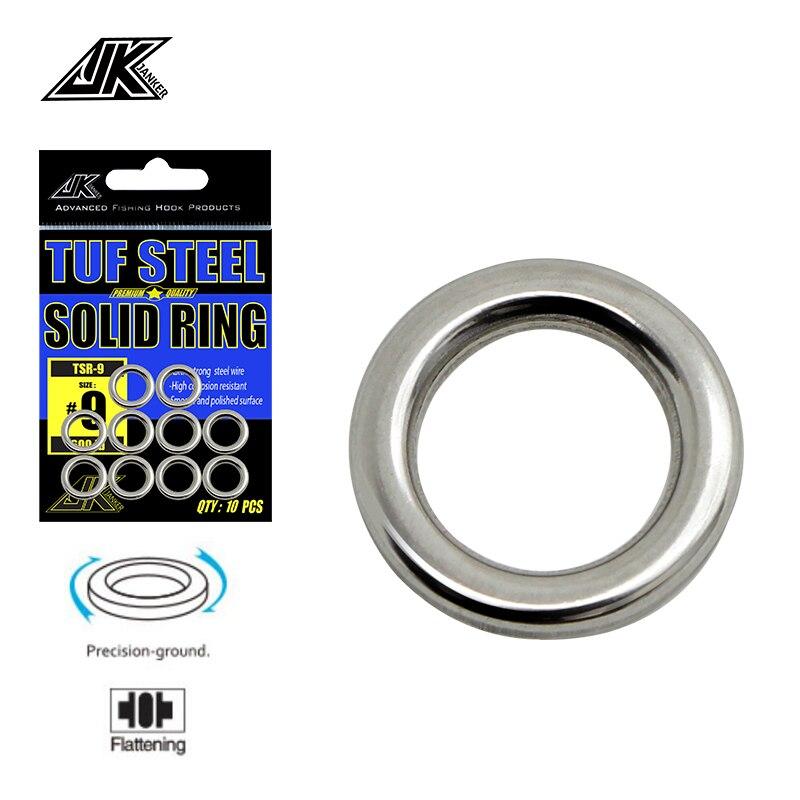 JK 2 упаковка 6-12 мм сверхмощное рыболовное твердое кольцо No4-9 бесшовное кольцо из нержавеющей стали 304 набор инструментов для полировки снастей Рыболовные приманки!