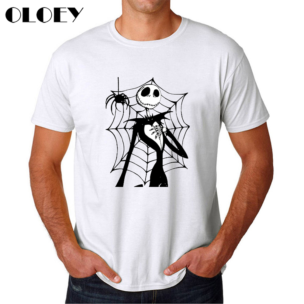 Nightmare Before Christmas Jack Skellington Men T Shirt Grimace 2020 Summer Harajuku Male Clothes Hip Hop Tops Punk T-Shirt