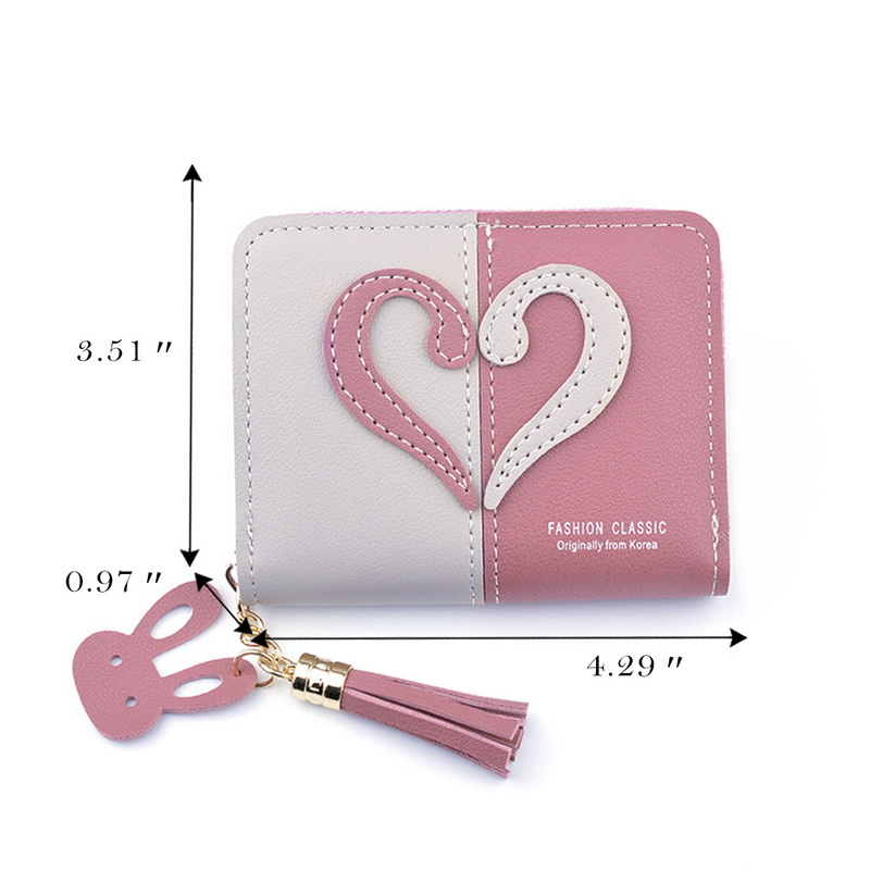 New Tassel Leather Wallet Women Small Coin Purse Card Holder Mini Wallets Female Short Coin Zipper Purse Cartera Mujer