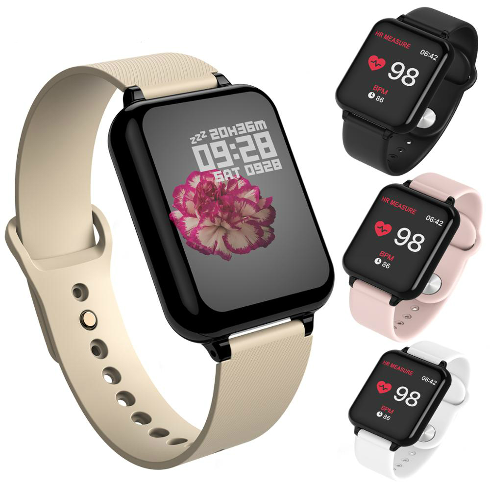 B57 I5 Fitness Tracker Smart Watch Waterproof Sport For IOS Android Phone Smartwatch Heart Rate Monitor Blood Pressure Functions