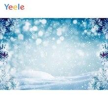 Yeele Christmas Backdrop Winter Snow Tree Bokeh Newborn Baby Birthday Party Photocall Photography Background For Photo Studio