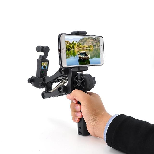 Câmera de bolso handheld suporte de absorção de choque suporte de vídeo estabilizador de montagem clipe de telefone para fimi palm câmera cardan acessórios
