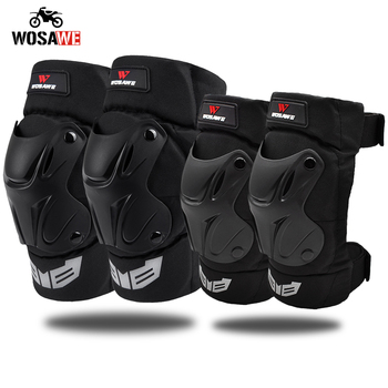 WOSAWE Motorcycle Knee Pads Elbow Pads Motocross Knee Protection Moto Racing Protective Guard Gear Motorbike MTB Knee Elbow Pads wosawe mtb motorcycle knee elbow protective pad set motocross snowboard racing ski racing roller body protection knee pads kits