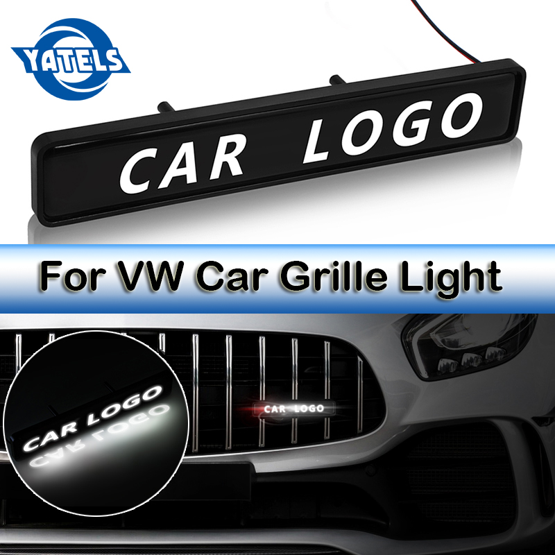 2019 NEW Car Decoration ABS Chrome Grille <font><b>Logo</b></font> Badge LED lights For <font><b>Volkswagen</b></font> polo <font><b>passat</b></font> <font><b>b5</b></font> b6 golf 4 5 6 mk6 tiguan Cross Eos image