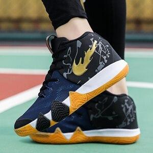 Image 5 - Irving 46th geração masculino tênis de basquete masculino scarpe uomo ao ar livre antiderrapante formadores zapatillas hombre casual
